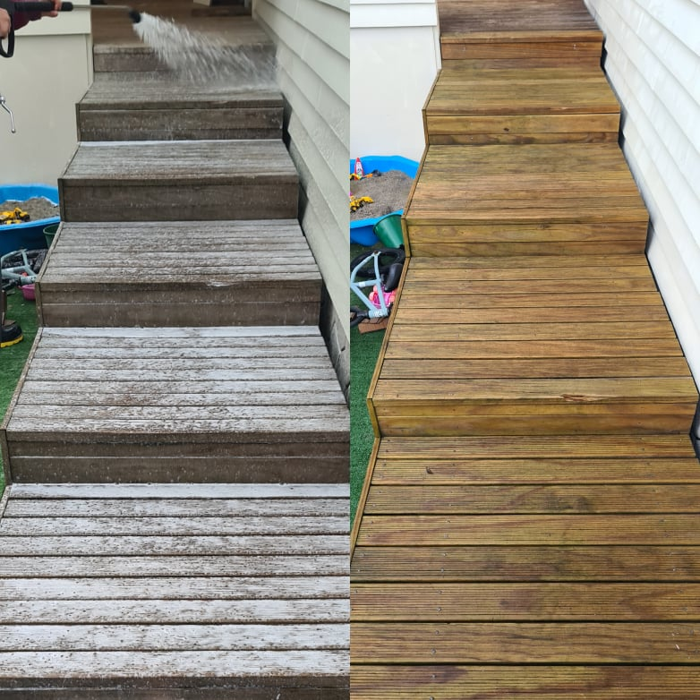 benefits of using professional deck cleaning services